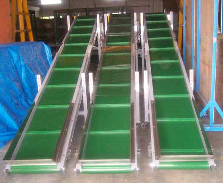 belt-conveyors in a row